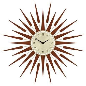 Newgate Pluto Wall Clock, Brown (Diameter 65cm)