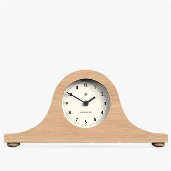 Newgate Refectory Clock, Wood (H19 x W40 x D8.5cm)