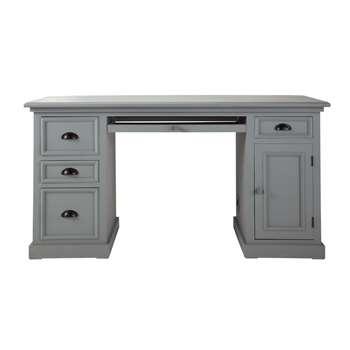 NEWPORT Wooden desk in grey (77 x 150cm)
