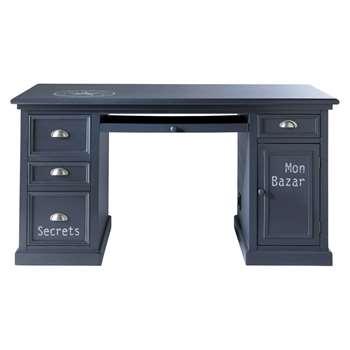 NEWPORT Wooden desk in grey W 150cm