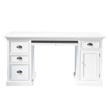 Newport Wooden desk in white (77 x 150cm)