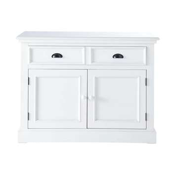 NEWPORT Wooden Sideboard in White (H79 x W109 x D47cm)