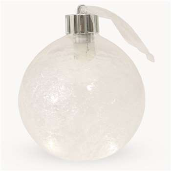 Newton Large Illuminated Glass Baubles - Set of 6 (H10 x W10 x D10cm)