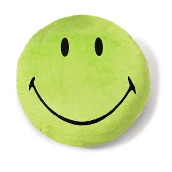 NICI Smiley Round Plush Cushion (Green) 35cm