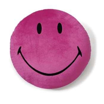 NICI Smiley Round Plush Cushion (Pink) 35cm