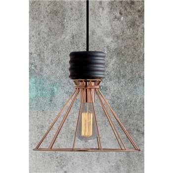 Nicolas Copper Pendant Light (30 x 30cm)