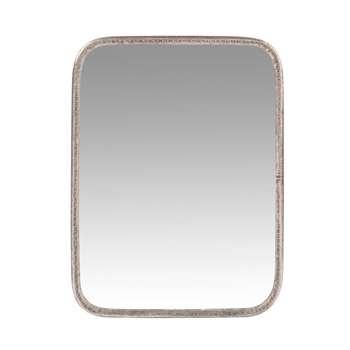 NICOLAS - Silver Metal Dressing Table Mirror (H18.5 x W14 x D0.5cm)
