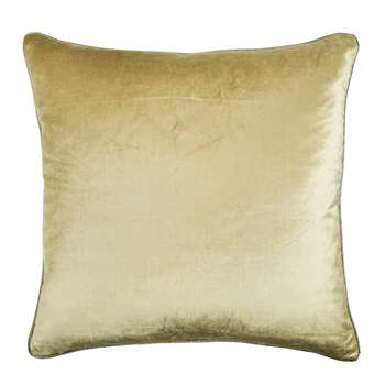 Nigella Antique Gold Square Velvet Cushion (H50 x W50cm)