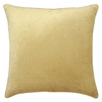 Nigella Camomile Square Velvet Cushion