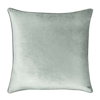 Nigella Duck Egg Square Velvet Cushion