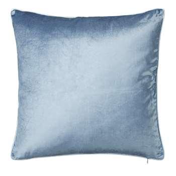 Nigella Seaspray Square Velvet Cushion