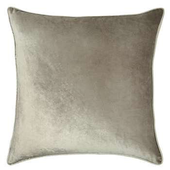 Nigella Truffle Square Velvet Cushion (H50 x W50cm)