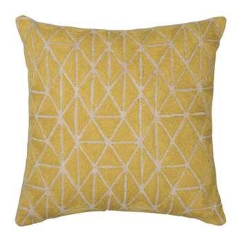 Niki Jones - Berber Cushion - 50x50cm - Chartreuse & Natural
