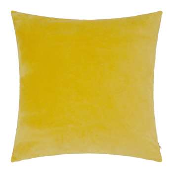 Niki Jones - Chartreuse Velvet Linen Cushion - (50 x 50cm)