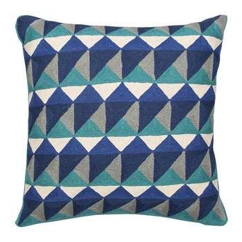 Niki Jones - Escher Cushion - 50x50cm - Emerald & Navy
