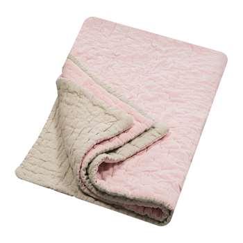 Niki Jones - Velvet Linen Bedspread/Quilted Throw - Blush (H140 x W220cm)