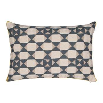 Niki Jones - Zellij Cushion - 40x60cm - Ecru & Slate