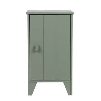 Nikki Bedside Cabinet in Army Green by Woood (H63.5 x W37 x D35cm)