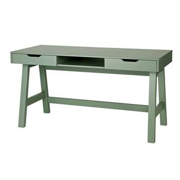 Nikki Computer & Office Desk in Army Green (Width 140cm)