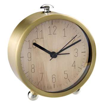 NIKO Gold Metal Alarm Clock (11 x 10cm)