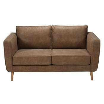 Nils Camel 2/3-seater coated textile sofa (85 x 170cm)