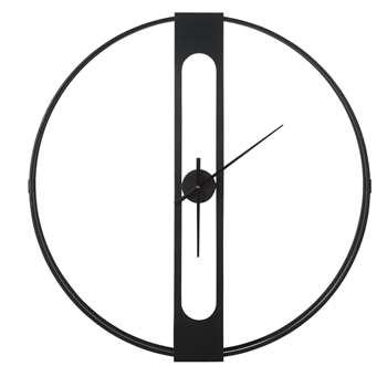 NILSON - Black Metal Clock (Diameter 100cm)
