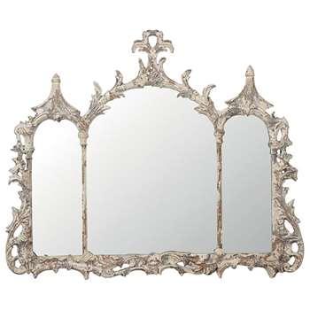Ning Mirror - Distressed Grey (70 x 83cm)