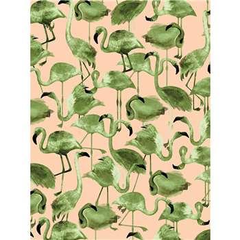 NJ Interiors - Flamingo Cipria Wallpaper