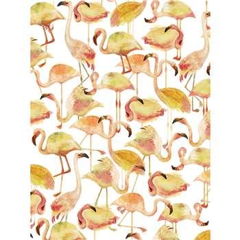 NJ Interiors - Flamingo Lemon Wallpaper