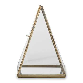 Nkuku - Bequai Display Pyramid - Antique Brass - Medium (21 x 15cm)