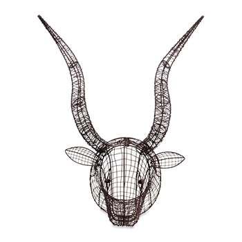 Nkuku - Eco Wire Animal Head - Bull (H55 x W52 x D42cm)