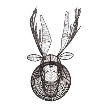 Nkuku - Eco Wire Animal Head - Moose (H50 x W23 x D38cm)