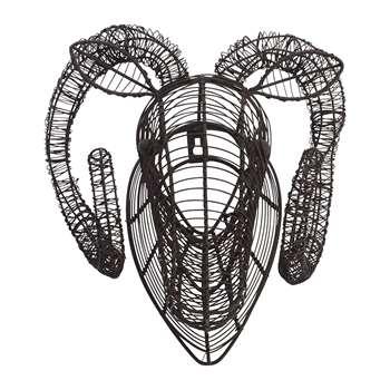 Nkuku - Eco Wire Animal Head - Ram (H30 x W29 x D23cm)