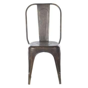 Nkuku Industrial Iron Chair (94 x 49cm)