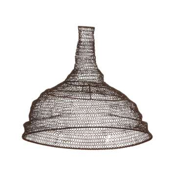 Nkuku - Jatani Wire Lamp Shade - Conical - Rust (H32 x W36.5 x D36.5cm)