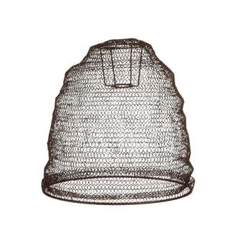 Nkuku - Jatani Wire Lamp Shade - Oval - Rust (H36 x W30 x D30cm)