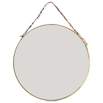 Nkuku - Kiko Round Mirror - Antique Brass - Large (Diameter 38cm)