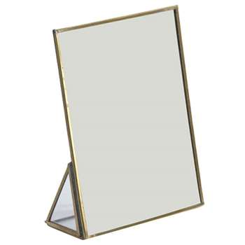 Nkuku - Kiko Standing Mirror - Antique Brass - Small (H18 x W13 x D5.5cm)
