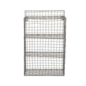Nkuku - Locker Room Shelf - Distressed Grey (52 x 33cm)