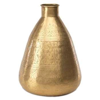 Nkuku - Nami Brass Pot - Tall (H37cm)