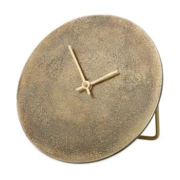 Nkuku - Okota Standing Clock - Antique Brass (Diameter 22cm)