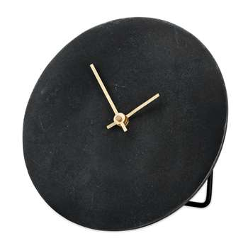Nkuku - Okota Standing Clock - Black (Diameter 22cm)