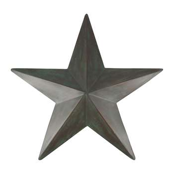 Nkuku - Santorini Decorative Star - Grey - Extra Large (H38 x W38cm)