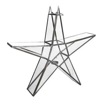 Nkuku - Sanwi Standing Star Lantern - Zinc - Large (H46.5 x W49 x D9.5cm)