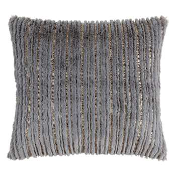 NOA - Grey and Gold Cushion Cover (H40 x W40cm)