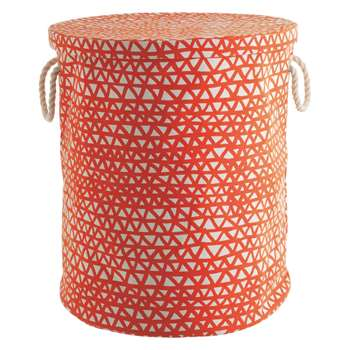 Noah Orange Printed Fabric Storage Basket 50 x 45cm