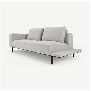 Nocelle 3 Seater Sofa with Side Table, Chic Grey (H80 x W229 x D97cm)