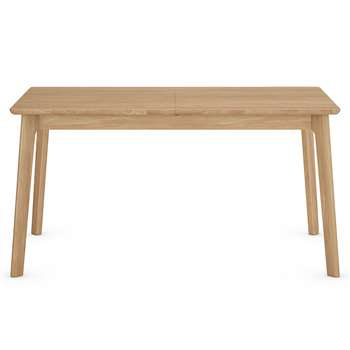 Nord Extending Dining Table, Oak (H76 x W150-190 x D85cm)