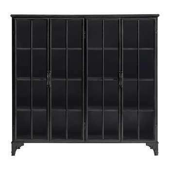 Nordal - Downtown Iron Cabinet - Black (H114 x W120 x D32cm)