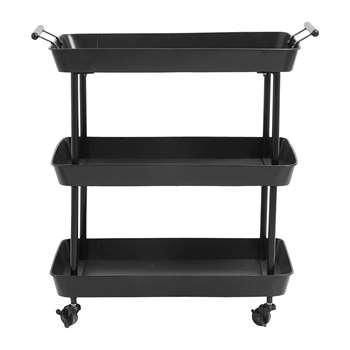 Nordal - Iron Trolley - Black (H78 x W66 x D41cm)